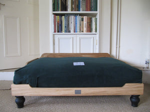Luxury Wooden Dog Bed and Waterproof Orthopedic Mattress by Berkeley