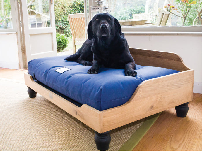 Handmade Wooden Dog Bed in Solid English Oak by Berkeley