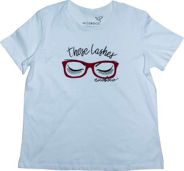 Camiseta Nicoboco Feminino Tshirt Those Lashes.