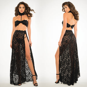 Adore Freya Lace Bandeau 3pc Set-Black Small