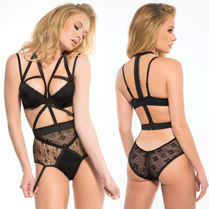 Adore Freya Angel Of Love Lace Teddy-Black Small