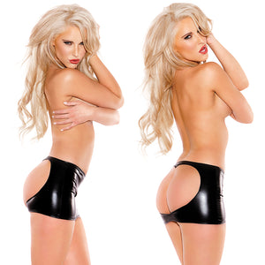 Kitten Wet look Kissable Skirt-Black O/S
