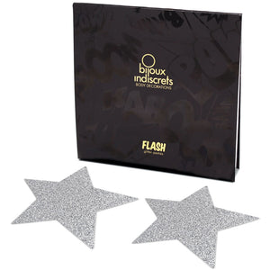 Bijoux Flash Star Glitter Pasties-Silver