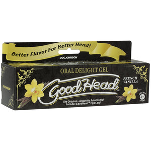 Goodhead - Oral Delight Gel - 4 Oz Tube - French  Vanilla