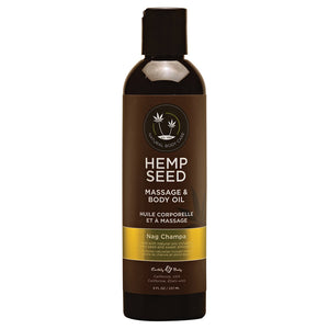 Hemp Seed Massage Oil - 8 Fl. Oz. - Nag Champa