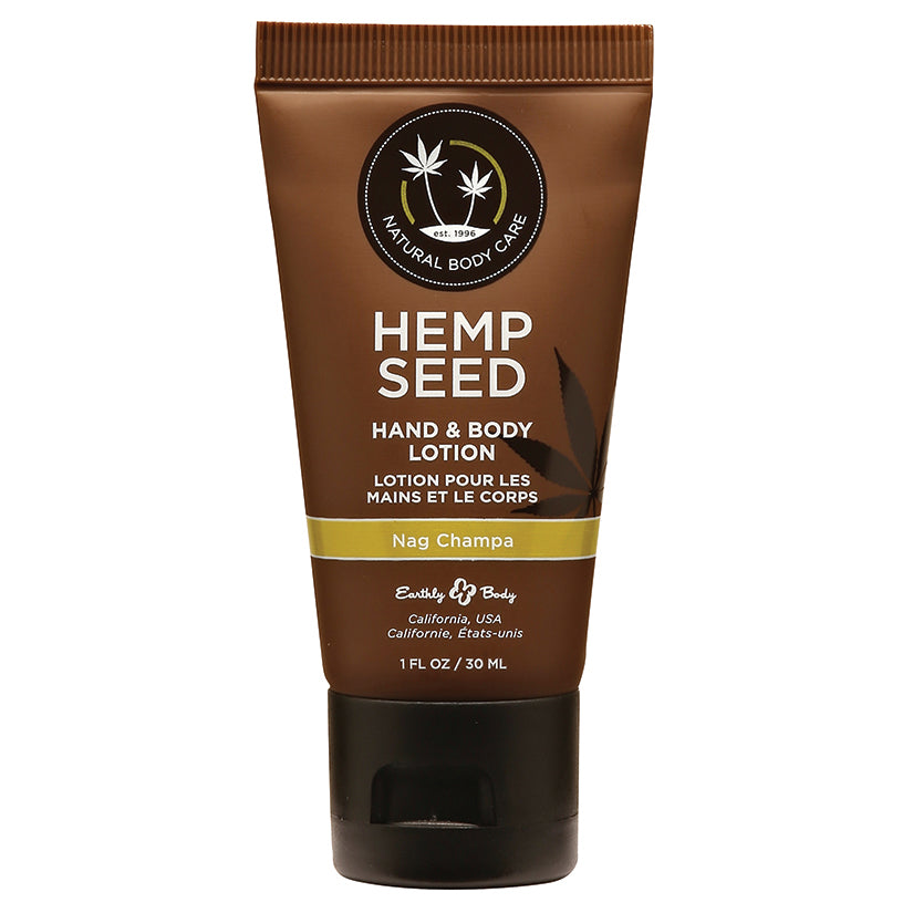Earthly Body Hemp Seed Lotion-Nag Champa 1oz