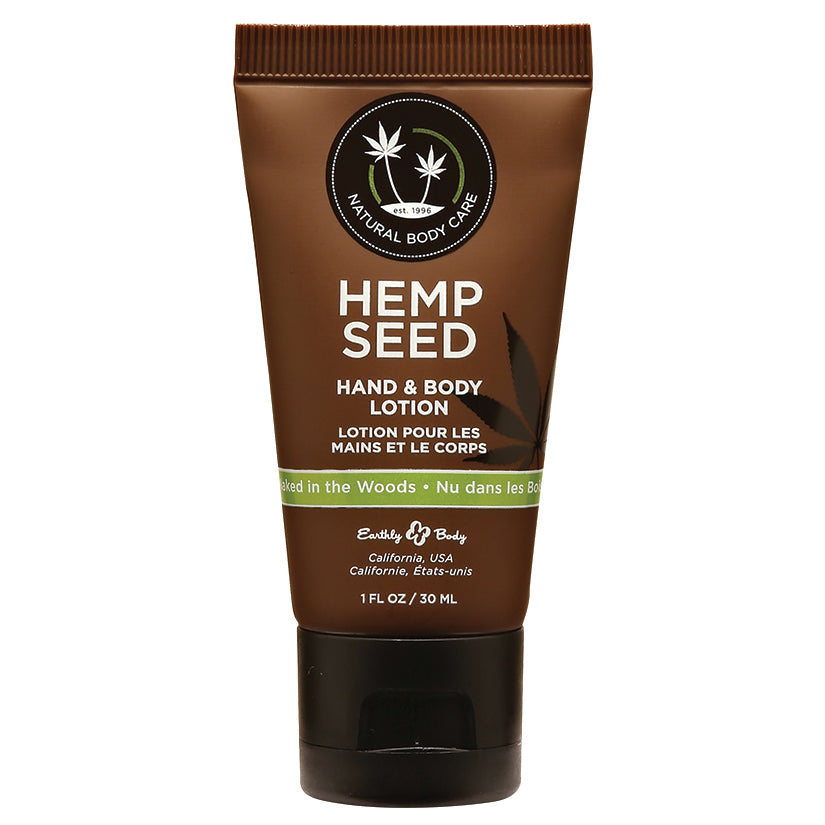 Earthly Body Hemp Seed Lotion-Naked in the Woods 1oz