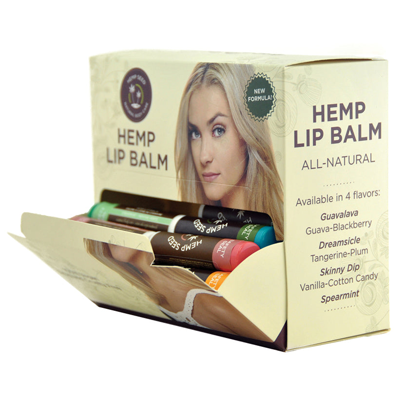 Earthly Body Hemp Lip Balm Stick Assorted Display of 48