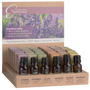 Earthly Body Essential Oils Display of 36