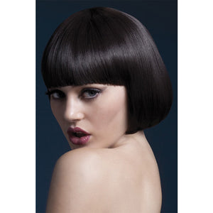 Fever Smiffys Mia Wig Short Bob With Fringe-Brown 10""