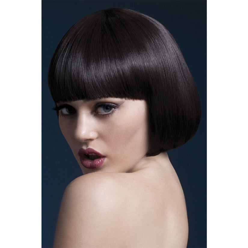 Fever Smiffys Mia Wig Short Bob With Fringe-Brown 10