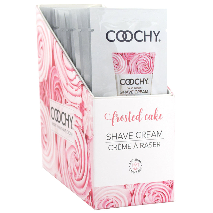 Coochy Shave Cream - Frosted Cake - 15 ml Foils 24 Count Display
