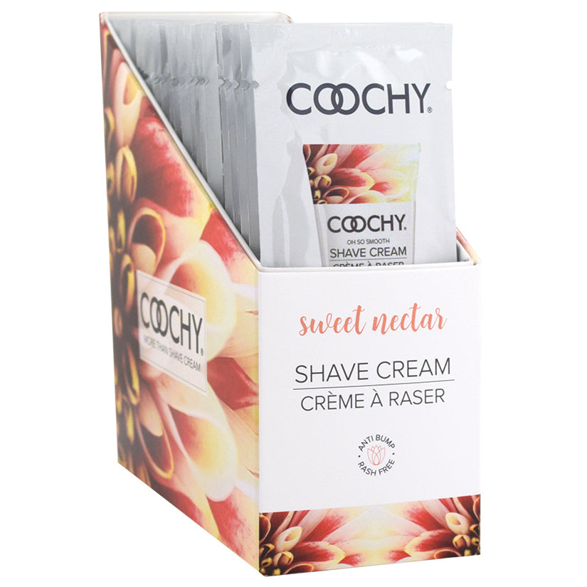 Coochy Shave Cream - Sweet Nectar - 15 ml Foils 24 Count Display