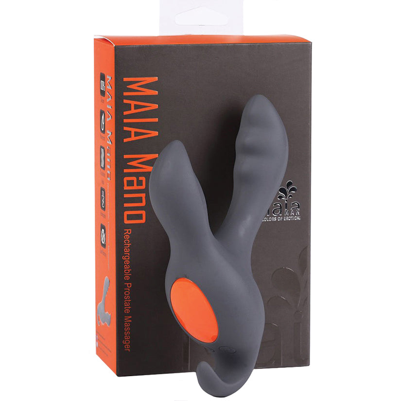 Maia Mano Rechargeable Prostate Massager-Grey