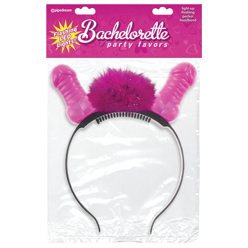 Bachelorette Party Favors Flashing Light-Up  Pecker Headband