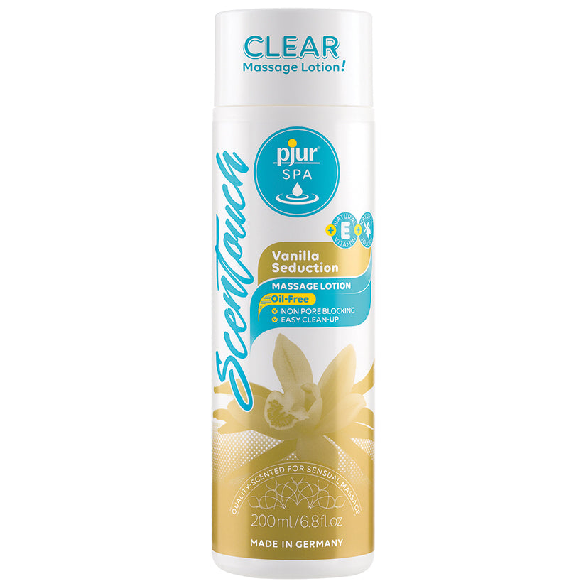Pjur Spa Clear Massage Lotion-Vanilla Seduction 6.8oz