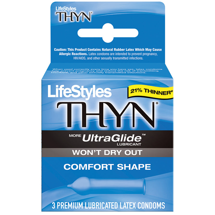 Lifestyles Thyn Lubricated Condoms - 3 Pack