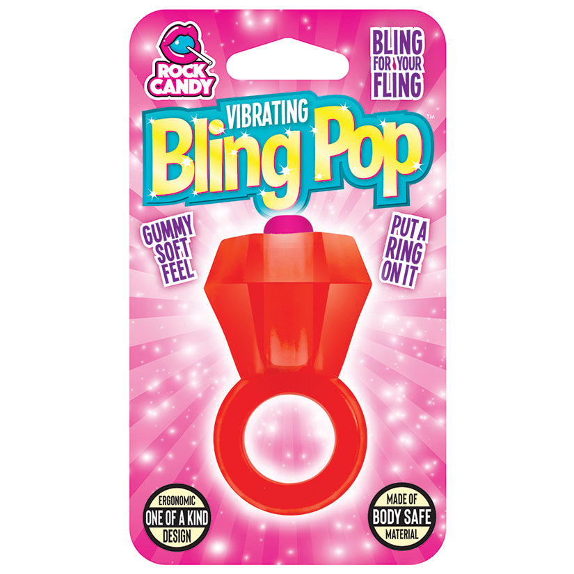 Rock Candy Gummy Collection Bling Pop Ring-Red