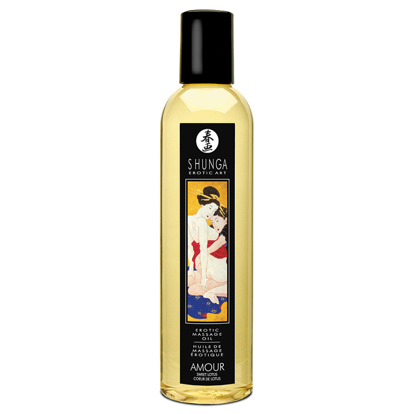 Shunga Amour Massage Oil-Sweet Lotus 8oz