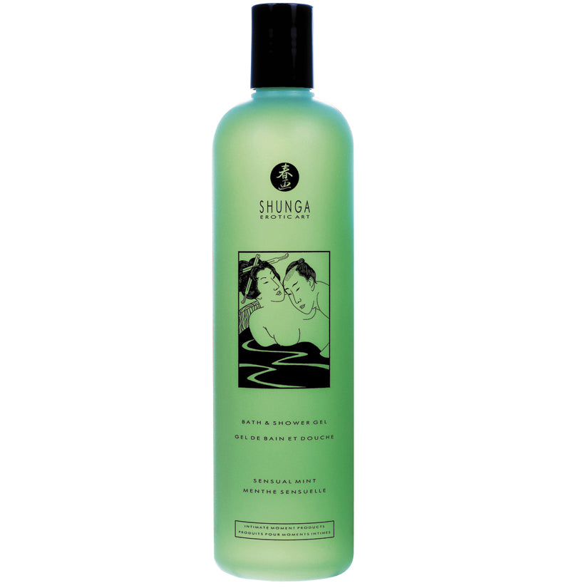 Shunga Bath & Shower Gel-Sensual Mint 16oz