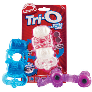 The Tri-O Triple Pleasure Ring - Each - Assorted Colors