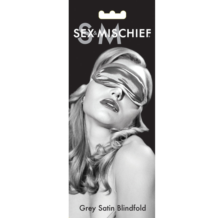 Sex and Mischief Satin Blindfold - Grey