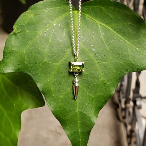Spike necklace Peridot