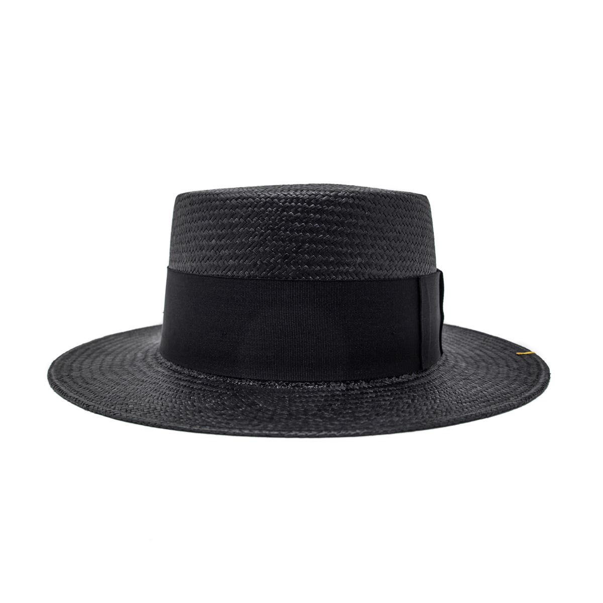 Quito Panama Boater Hat - Black