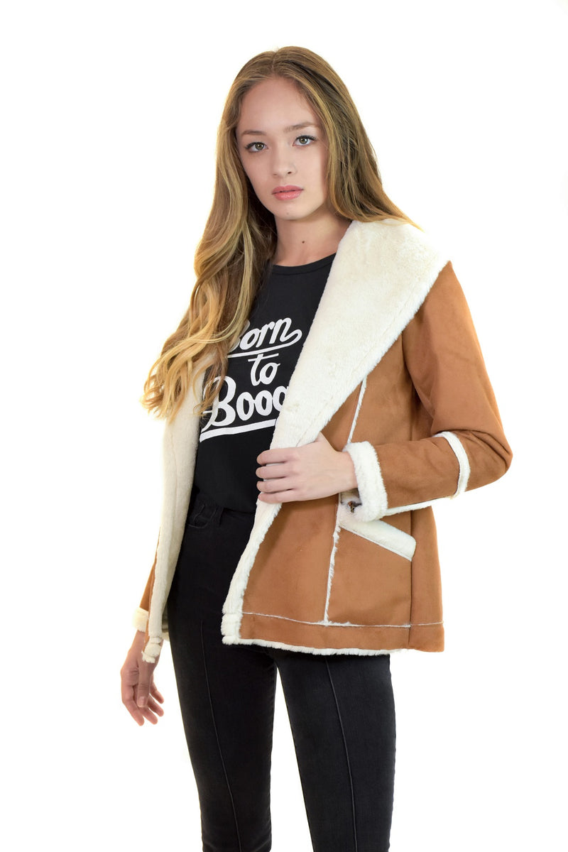Faux Fur Open Front Jacket <br> Chaser