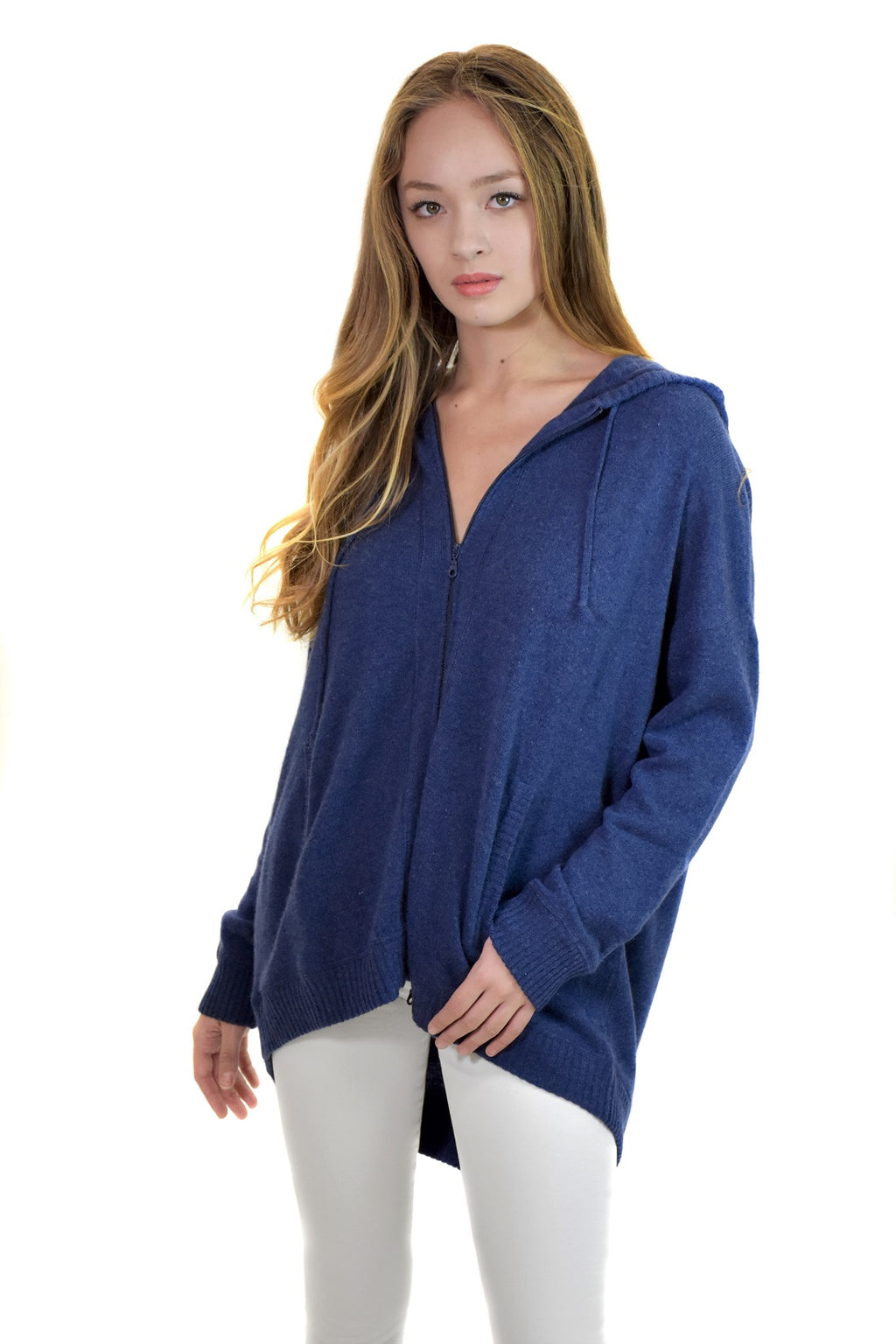 100% Cashmere Zip Hoodie <br> MinnieRose - Trendy Fox Boutique