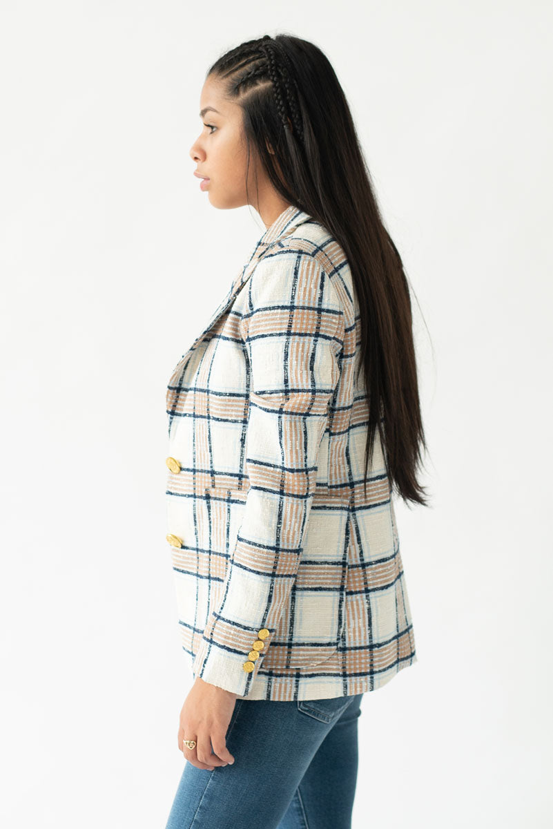 Portrait Neck Blazer <br> Smythe - Trendy Fox Boutique