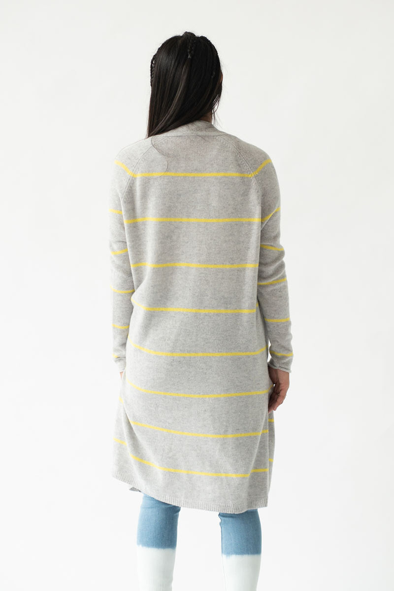 Pencil Stripe Open Cardigan <br> Autumn Cashmere - Trendy Fox Boutique