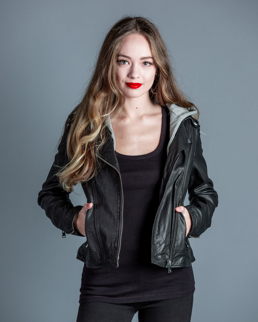 Holy Biker Jacket w/ Removable Hood <br> Lamarque