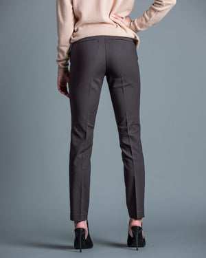 Madison Slim Leg Trouser <br> Ecru