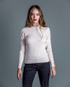 Open Pearl Sleeve Crew <br> Autumn Cashmere