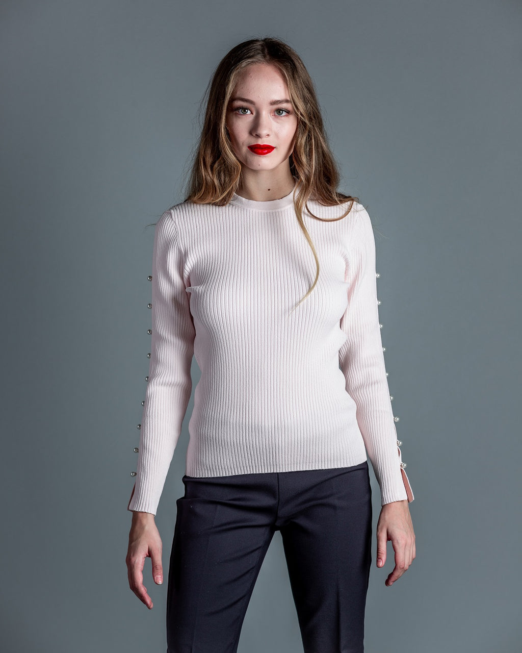 Open Pearl Sleeve Crew <br> Autumn Cashmere - Trendy Fox Boutique