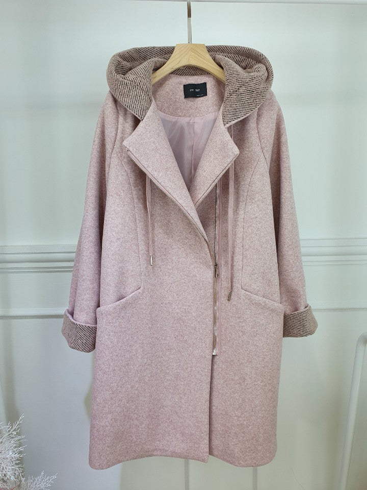 OVERSIZED MID LENGTH HOODED COAT - Trendy Fox Boutique
