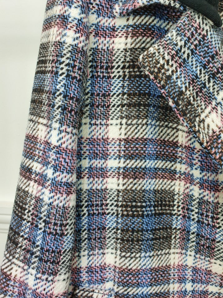 EVA PLAID COAT WITH REMOVANLE HOODED - Trendy Fox Boutique