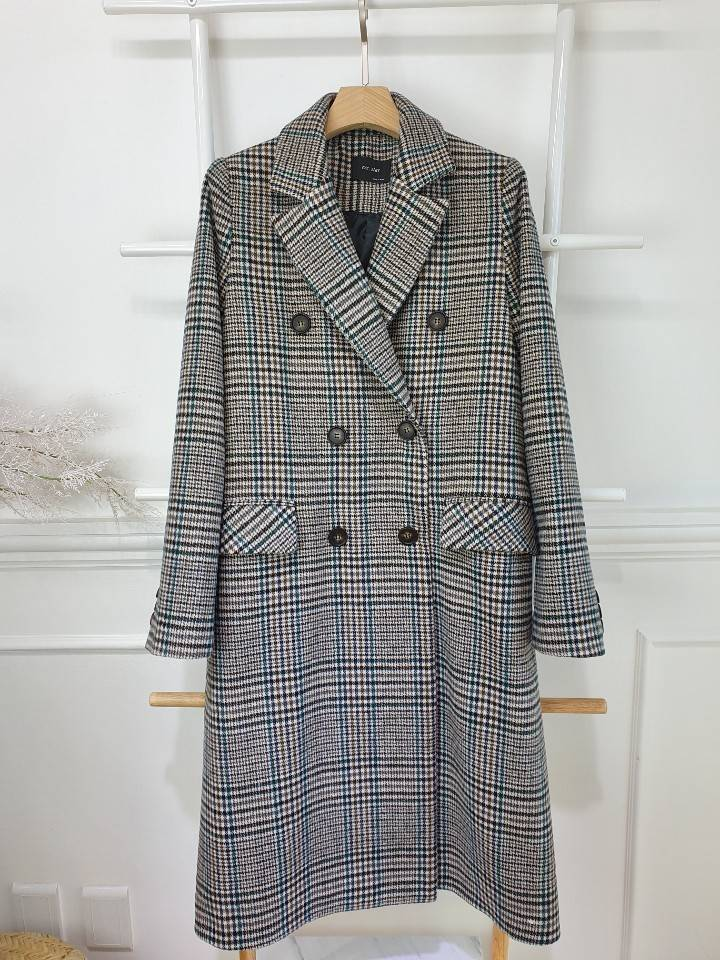 LONGLINE PLAID MID COAT - Trendy Fox Boutique