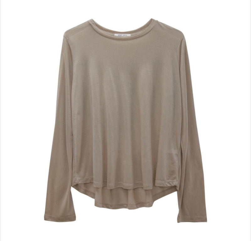 PIN TUCK SHEER LONG SLEEVE T-SHIRT - Trendy Fox Boutique