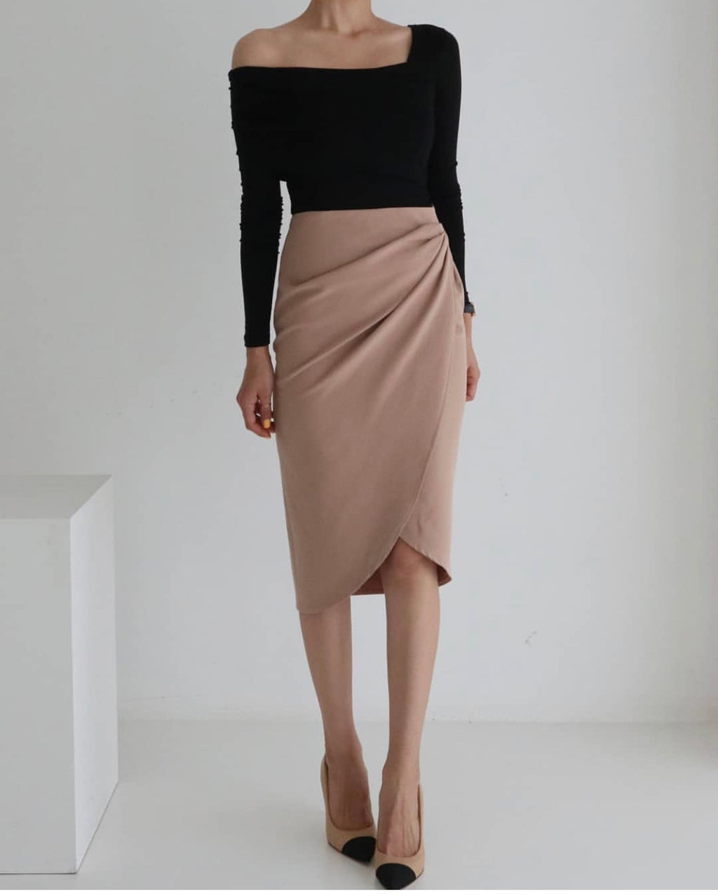 TWIST KNOT WRAP SKIRT - Trendy Fox Boutique