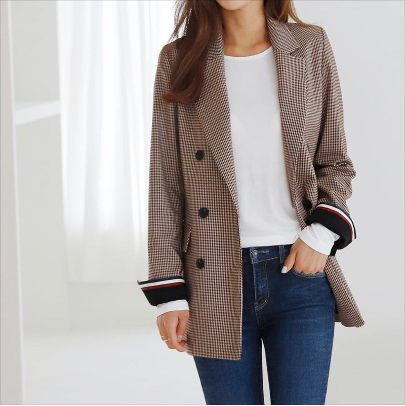 Isabel Check Jacket - Trendy Fox Boutique