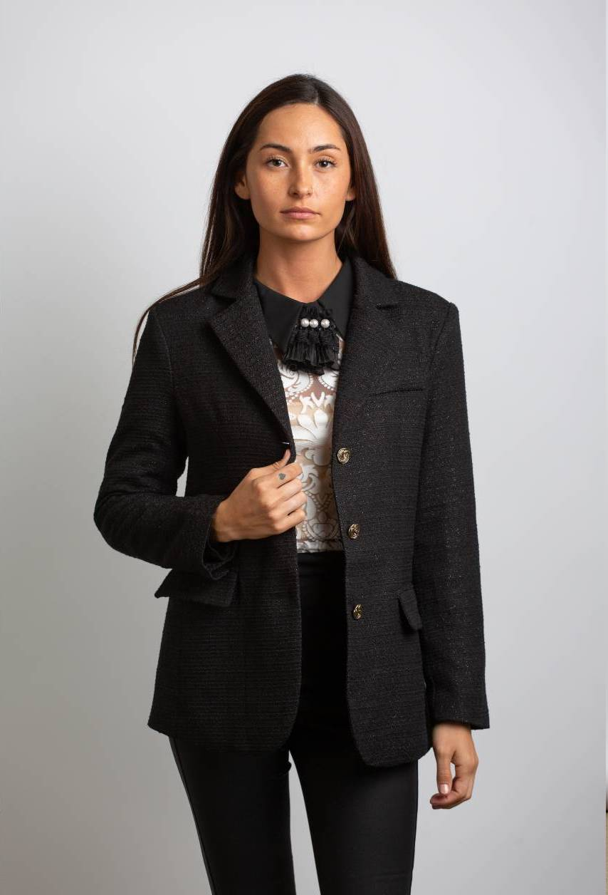 ELLE SLIM FIT JACKET, BLACK - Trendy Fox Boutique