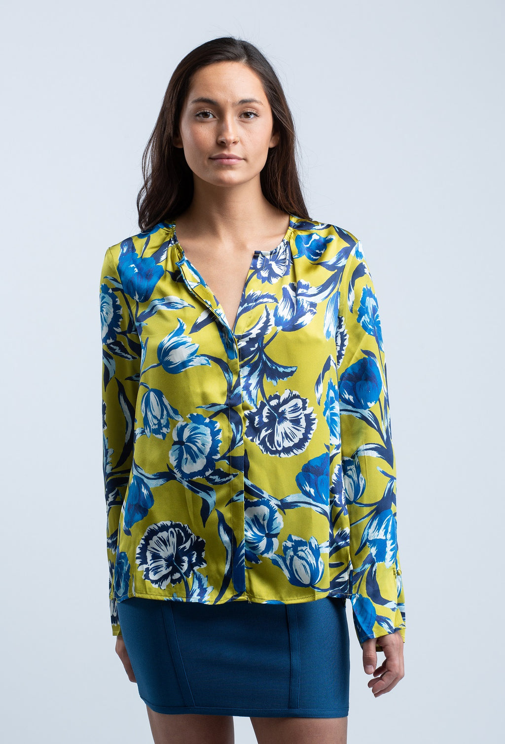 ECRU <br> Delft Floral Top - Trendy Fox Boutique