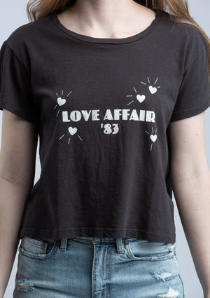 LNA <br> Love Affair 83 Tee in Pirate Black