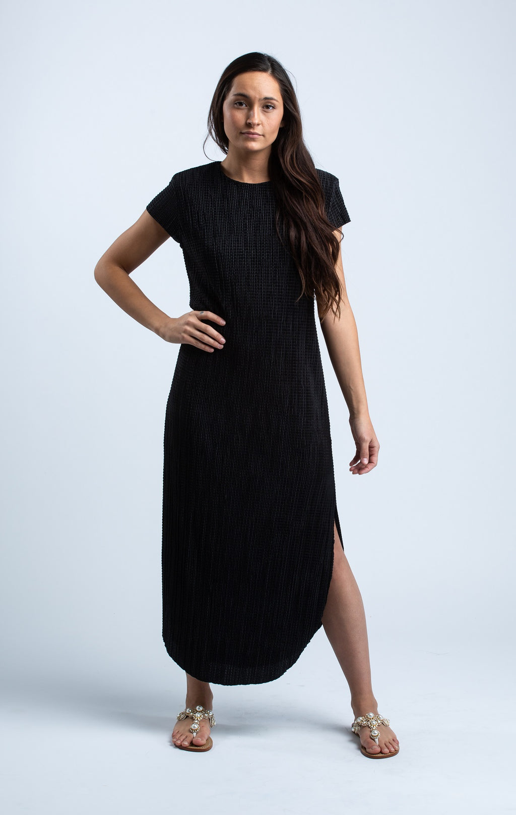 SABINA MUSAYEV - SHIRIN DRESS IN BLACK - Trendy Fox Boutique