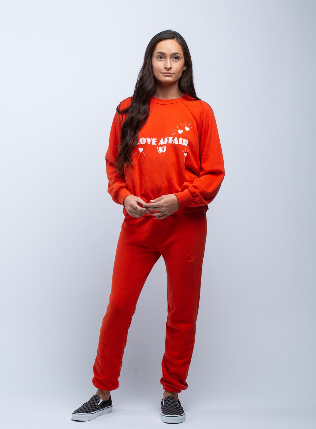 LNA <br> Love Affair Sweatshirt Firey in Red