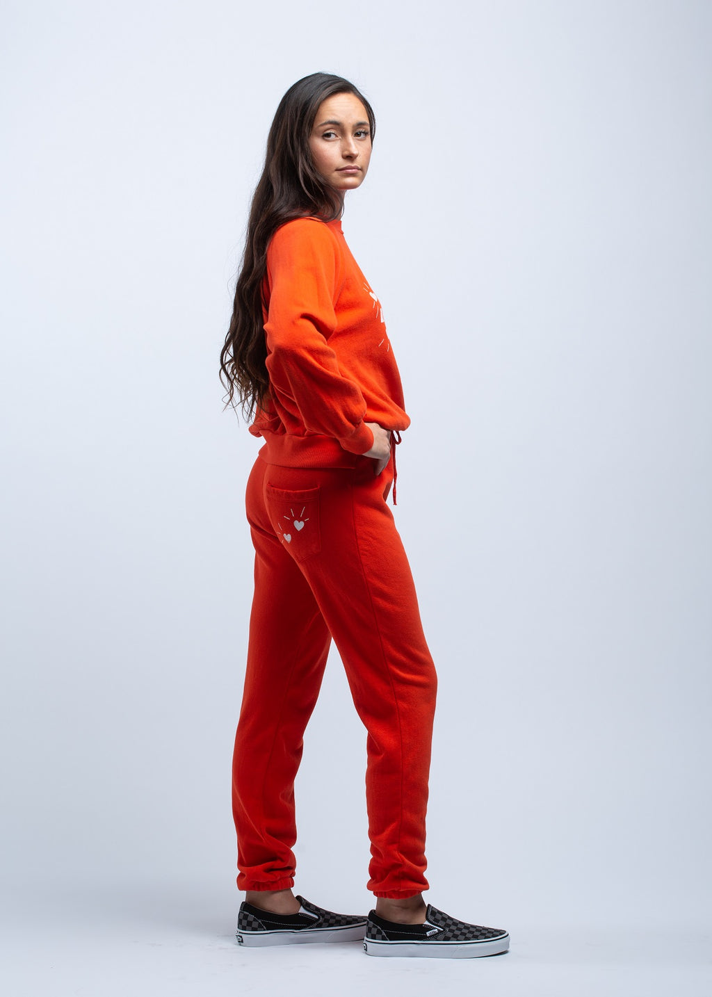 LNA <br> Calla Sweatpant in Red - Trendy Fox Boutique