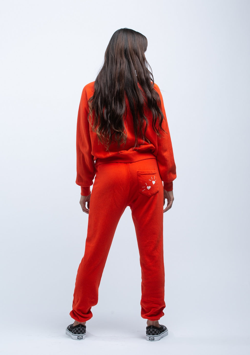 LNA <br> Calla Sweatpant in Red