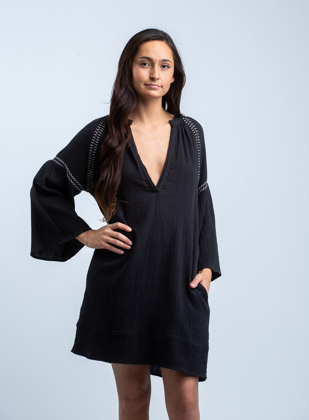 STILLWATER<br>The Embroider Benny Dress in Black - Trendy Fox Boutique